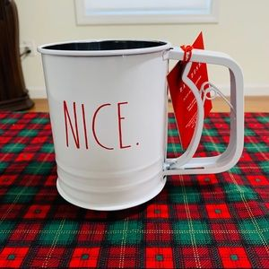 Rae Dunn 3 Cup Sifter white with red lette…